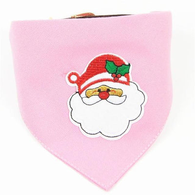Dog Christmas Christmas  Accessories - Collar Scarf Bib Christmas Collar Bibs Necktie Pet Christmas Dog Tools Suit 1pc pink / S