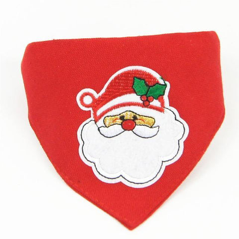 Dog Christmas Christmas  Accessories - Collar Scarf Bib Christmas Collar Bibs Necktie Pet Christmas Dog Tools Suit 1pc red / S