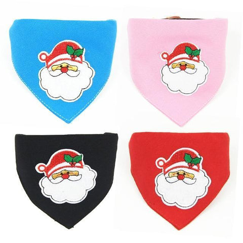 Dog Christmas Christmas  Accessories - Collar Scarf Bib Christmas Collar Bibs Necktie Pet Christmas Dog Tools Suit 4pcs / S