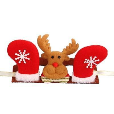 Dog Christmas Christmas  Accessories - Head Band Decorations Dog Crown Hat Headband Christmas Hair Accessories Red elk / S