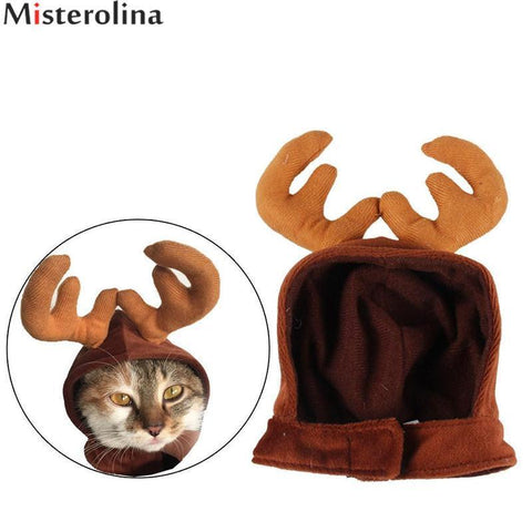 Dog Christmas Christmas  Accessories - Pet Hats Dog Cat Antlers Cap Hair Pet Supplies Cat Puppy Deer Hats Caps Christmas Pet Costume Default Title