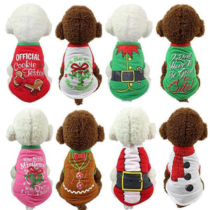 Dog Christmas Christmas Dog Clothes-Pullover Hoodies Dog Clothes Cat Santa Pet Dog Shirt  Puppy Sweater  Clothes Casual A / XS