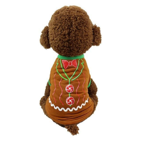 Dog Christmas Christmas Dog Clothes-Pullover Hoodies Dog Clothes Cat Santa Pet Dog Shirt  Puppy Sweater  Clothes Casual F / XS