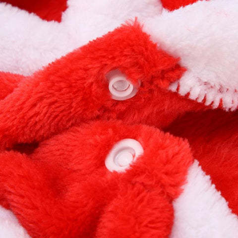 Image of Dog Christmas Christmas Dog Clothes-Winter Warm Red Santa Claus Costumes For Small Pet Cat Dogs Coat Jackets 8-XS
