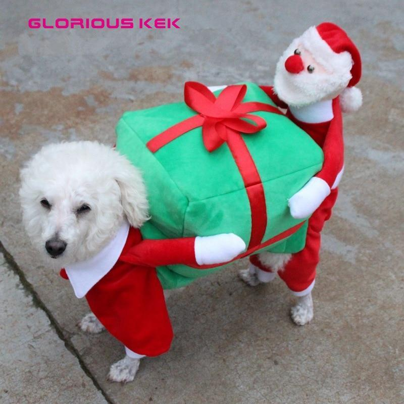 Dog Christmas Christmas Dog Costumes - Funny Santa Claus Dog Clothes Dog Gift  Warm Winter Pet Clothes S