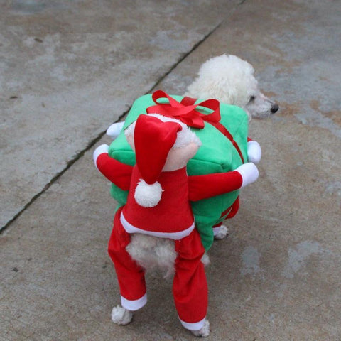 Image of Dog Christmas Christmas Dog Costumes - Funny Santa Claus Dog Clothes Dog Gift  Warm Winter Pet Clothes S