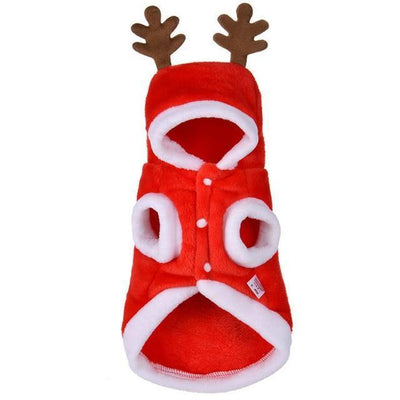 Dog Christmas Christmas Pet Clothes - Costume Santa Claus Costume Winter Christmas Pet Coat Apparel Cotton Clothes Burgundy / XS