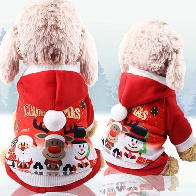 Dog Christmas Christmas Pet Clothes - Costume Santa Claus Costume Winter Christmas Pet Coat Apparel Cotton Clothes Red / XS