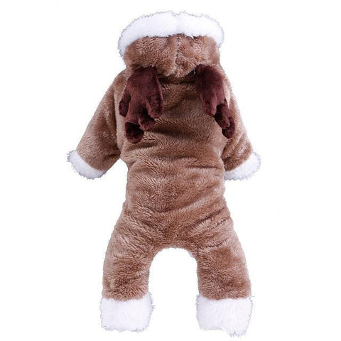 Dog Christmas Christmas Pet Clothes -Elk/Rabbit/Sheep Turned Small Dog Clothes Winter Warm Pet  Hoodie Elk / XS