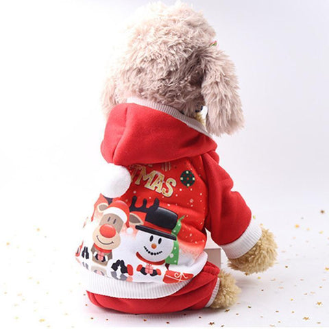 Dog Christmas Christmas Pet Clothes - Small Dog Coat Jacket Costume Hoodies Warm Cat Santa Claus Christmas Pet Apparel XS