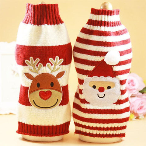 Image of Dog Christmas Christmas Pet Clothes - Winter Pets Dogs Clothing Christmas Dogs Sweaters Pet Hoodie New Year Clothes Elk / XS
