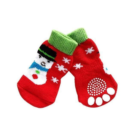 Dog Christmas Christmas Pet Socks-Soft Cotton Anti-slip Knit Weave Warm Sock C / S
