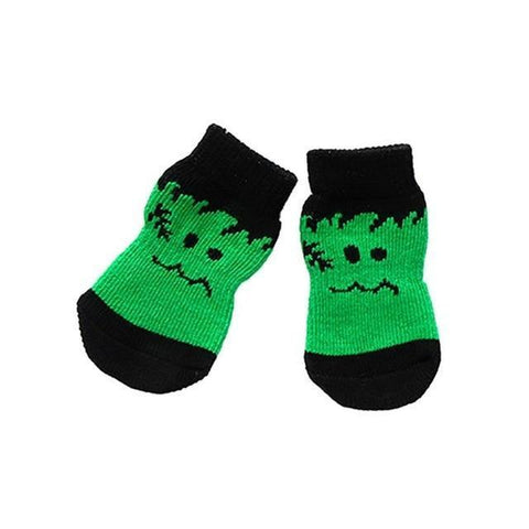 Dog Christmas Christmas Pet Socks-Soft Cotton Anti-slip Knit Weave Warm Sock D / S