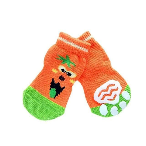Dog Christmas Christmas Pet Socks-Soft Cotton Anti-slip Knit Weave Warm Sock E / S