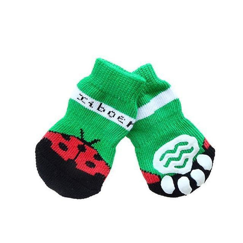 Dog Christmas Christmas Pet Socks-Soft Cotton Anti-slip Knit Weave Warm Sock F / S