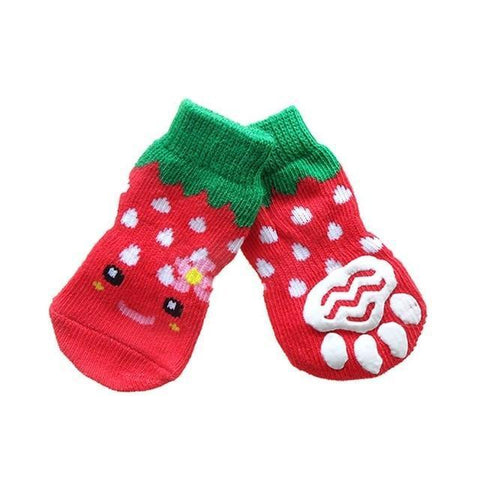 Dog Christmas Christmas Pet Socks-Soft Cotton Anti-slip Knit Weave Warm Sock G / S