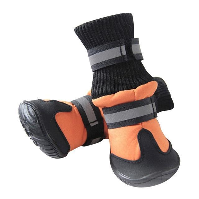Dog ShoesClothing and Accessories Pet Shoes-High Waist Golden Retriever Husky Waterproof Breathable Winter Cotton Boots Orange / XS