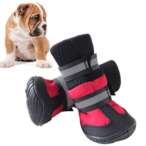Image of Pet Shoes-High Waist Golden Retriever Husky Waterproof Breathable Winter Cotton Boots