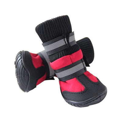 Dog ShoesClothing and Accessories Pet Shoes-High Waist Golden Retriever Husky Waterproof Breathable Winter Cotton Boots Red / XS