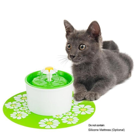 Food and bowl Automatic Water Feeder-1.6L Cat Water Fountain Electric  Pet Drinking Dispenser with Charcoal Filter Green