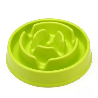 Food and bowl Circle Maze Interactive Slow Feeder Bowl green coral / 20 x 20 x 4cm