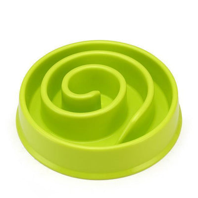 Food and bowl Circle Maze Interactive Slow Feeder Bowl green snails / 20 x 20 x 4cm