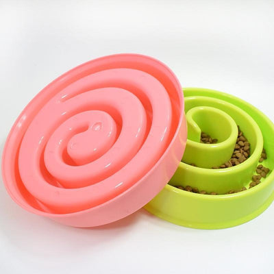 Food and bowl Circle Maze Interactive Slow Feeder Bowl pink snails / 20 x 20 x 4cm