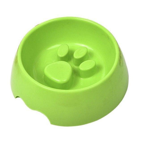 Food and bowl Dog Slow Feeder Bowl-Slow Overeat Anti Choke Bowl Plastic Dog Slow Feeder Green / S