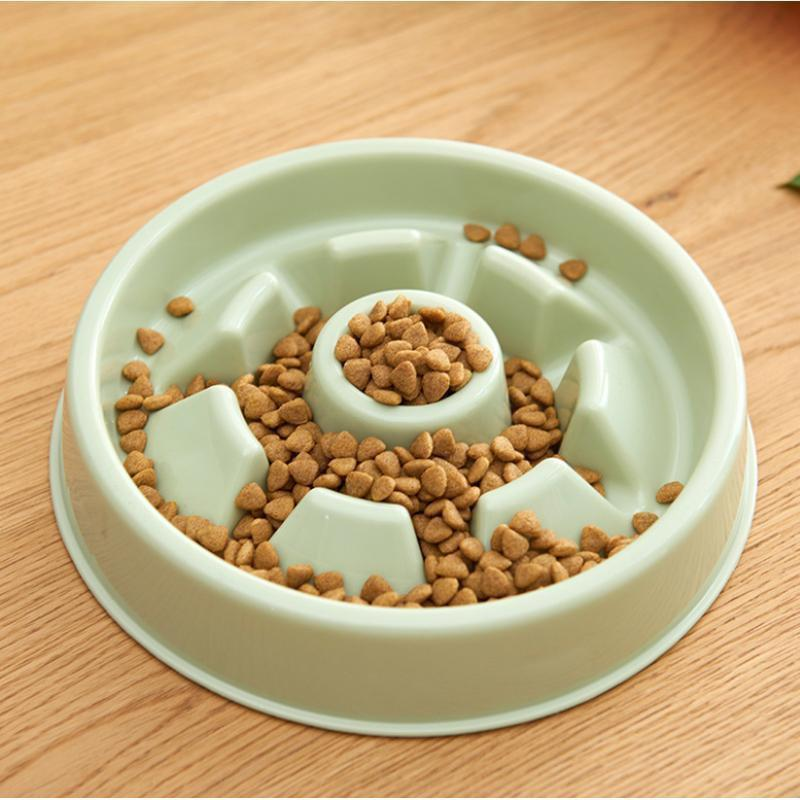 Food and bowl Dog Slow Healthy Dish Feeder White