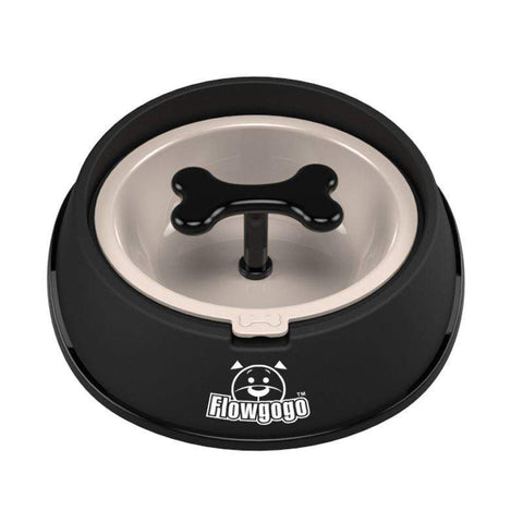 Food and bowl Fun Bone Shaped Slow Feeder black / Small 400ml