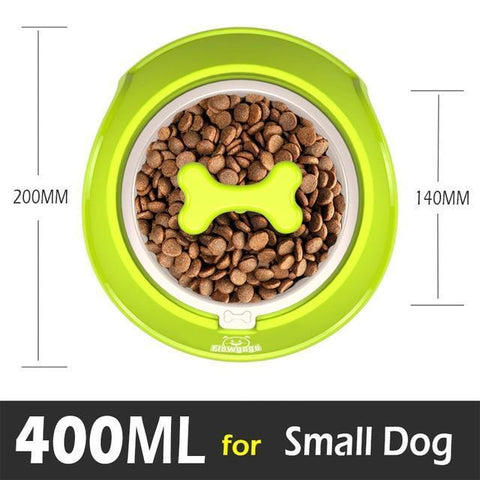 Food and bowl Fun Bone Shaped Slow Feeder green / Small 400ml