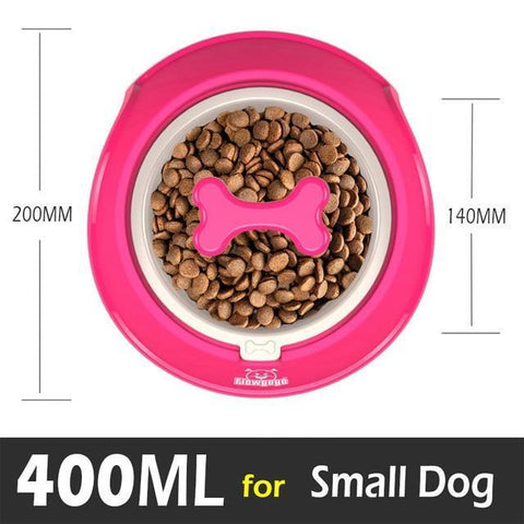 Food and bowl Fun Bone Shaped Slow Feeder red / Small 400ml
