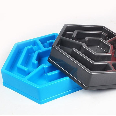 Food and bowl Maze Slow Feeder Bowl Black