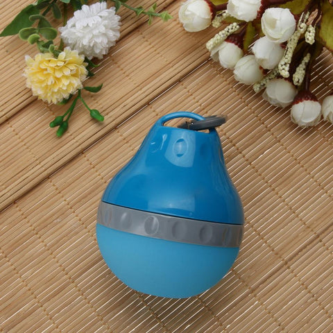 Food and bowl Portable Feeder- 200ml Drinking Outdoor Water Drop Lightweight Silicone  Kettle Green / 10x8cm