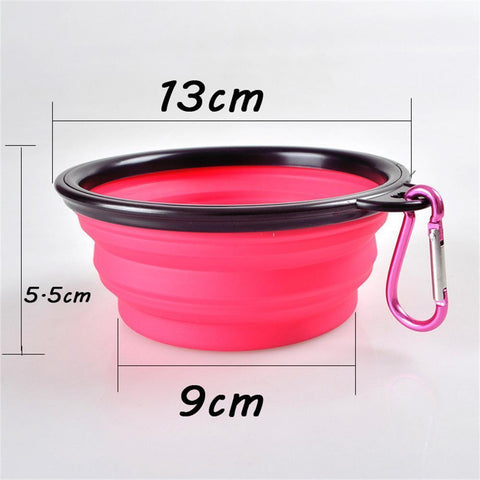 Food and bowl Portable Feeder- Outdoor Hiking Travel Dog Bowl Folding Telescopic for Food the Dog Drinking Water Pet Bowl Green / S