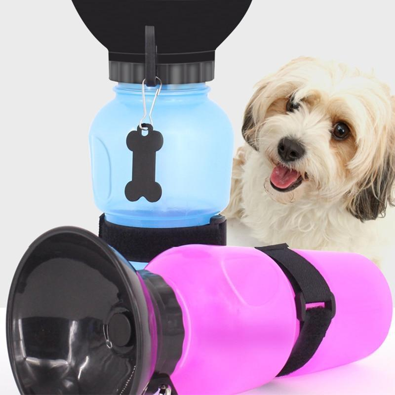Food and bowl Portable Pet Dog Water Bottle Red