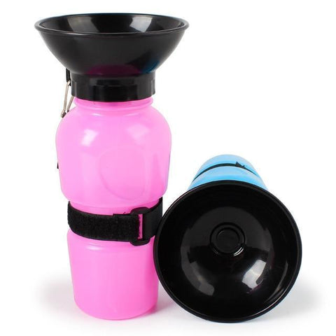 Image of Food and bowl Portable Pet Dog Water Bottle Red