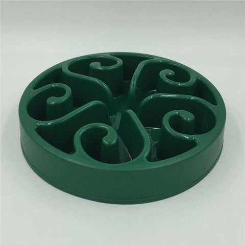 Image of Food and bowl Wave Master Slow Feed Bowl Dark Green