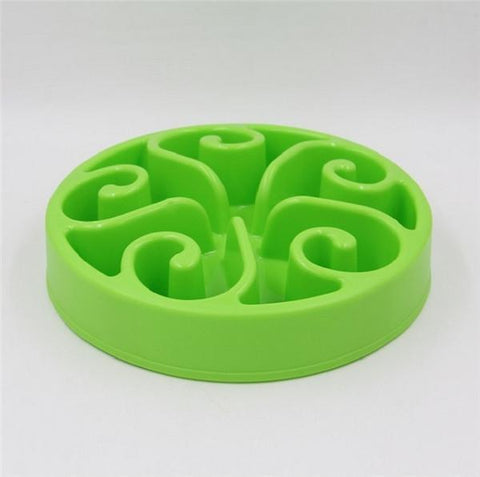 Food and bowl Wave Master Slow Feed Bowl Green