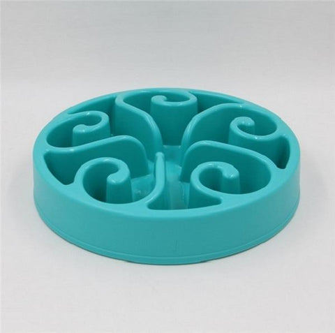 Image of Food and bowl Wave Master Slow Feed Bowl Lake blue