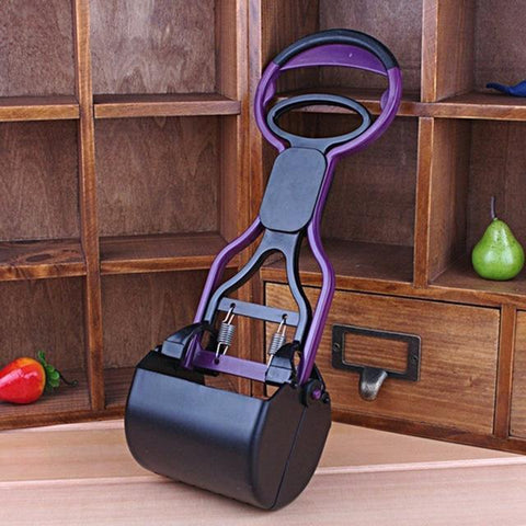 Health Care and Cleaning Extended Arm Cleaning Scooper for Pet waste Purple