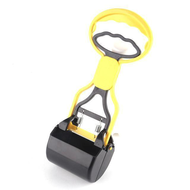 Health Care and Cleaning Extended Arm Cleaning Scooper for Pet waste Yellow