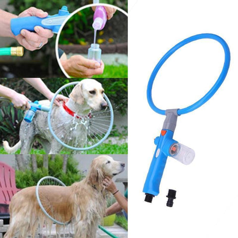 Health Care and Cleaning Pet Dog Bathing Cleaner 360 Degree Shower Tool Kit Blue / S