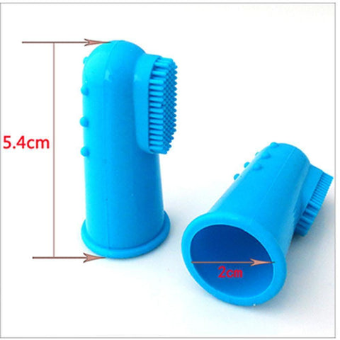 Health Care and Cleaning Pet Finger Toothbrush - Super Soft Silicone Dog Cat Brush Addiction Bad Breath Tartar Teeth Care A / 5.4x2cm