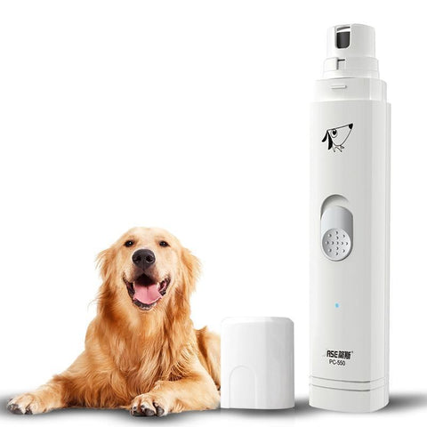 Health Care and Cleaning Pet Nail Trimmer-Electric Painless Dogs Cats Nail Trimmer Pet Nail Clipper Pet Nail Grinder Grooming Products White