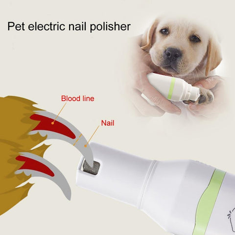 Image of Health Care and Cleaning Pet Nail Trimmer-New 2 in 1 Pet Dog Cat Hair Trimmer Paw Nail Grinder Grooming Clippers Nail Cutter Hair Cutting Machine Default Title