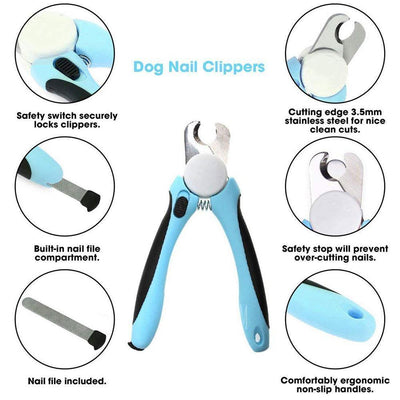 Health Care and Cleaning Pet Nail Trimmer-No Pain Dog Nail Clipper & Trimmer Pet Cat Claw Trimmer Blue / S