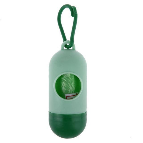 Health Care and Cleaning Pill Bone Shape Pet Dog Poop Bag Dispenser Waste Garbage  Bags Carrier Holder Pill Green