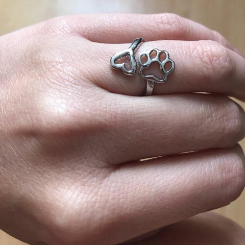 Jewelry Always By Your Heart - Adjustable Lovely Dog Ring Gold