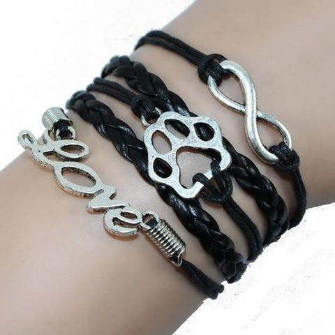 Jewelry Paw Bracelets black